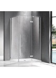 Wellis Sorrento Plus 100 zuhanykabin 100x100 Jobbos Easy Clean bevonattal WC00502