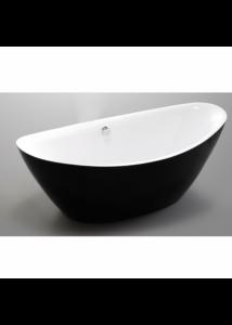Kád, Wellis Arezzo Black 180x87x66 WK00121