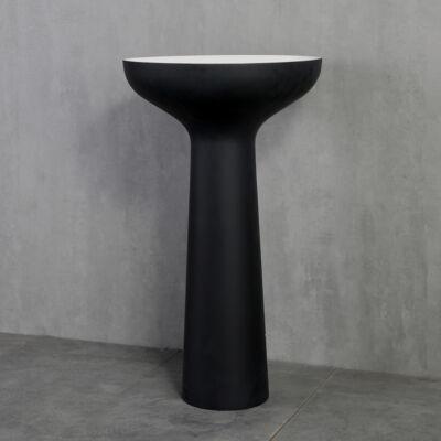 Wellis Pillar Black szabadonálló mosdó 50x50x85 cm WB00444